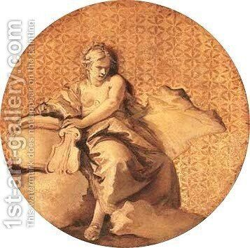 Erato, the Muse of love and poetry by Giovanni Battista Tiepolo - Reproduction Oil Painting
