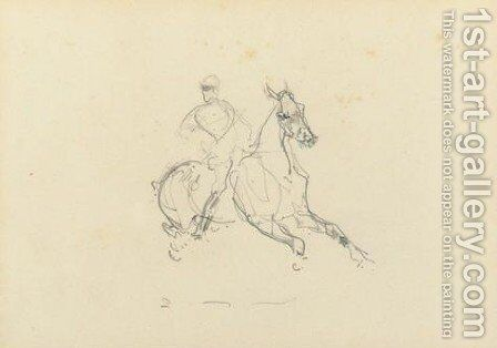 Cavalier 2 by Toulouse-Lautrec - Reproduction Oil Painting