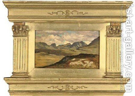 A rocky landscape by Lord Frederick Leighton - Reproduction Oil Painting
