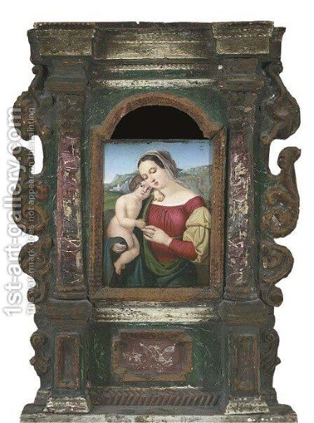 The Madonna and Child in a landscape by Raphael - Reproduction Oil Painting