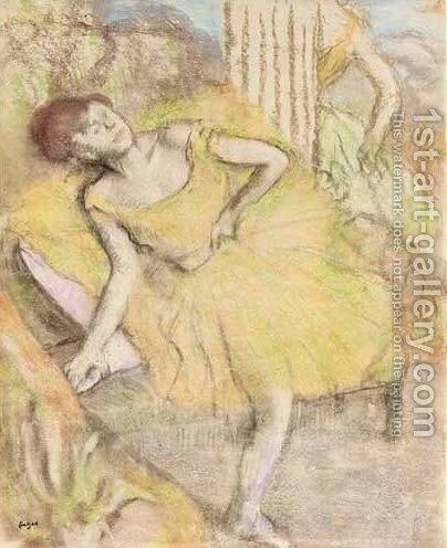 Danseuse au repos 3 by Edgar Degas - Reproduction Oil Painting