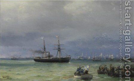 The Relief Ship by Ivan Konstantinovich Aivazovsky - Reproduction Oil Painting
