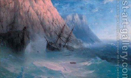 The shipwreck 9 by Ivan Konstantinovich Aivazovsky - Reproduction Oil Painting