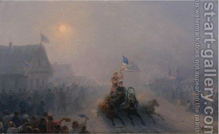 Distributing Supplies by Ivan Konstantinovich Aivazovsky - Reproduction Oil Painting