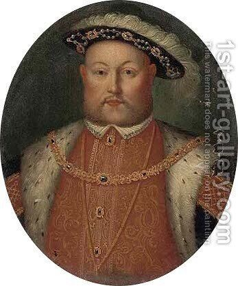 Portrait of King Henry VIII (1509-1547) by Hans, the Younger Holbein - Reproduction Oil Painting