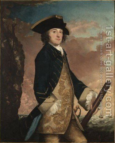 Portrait Of A Naval Officer by Sir Joshua Reynolds - Reproduction Oil Painting