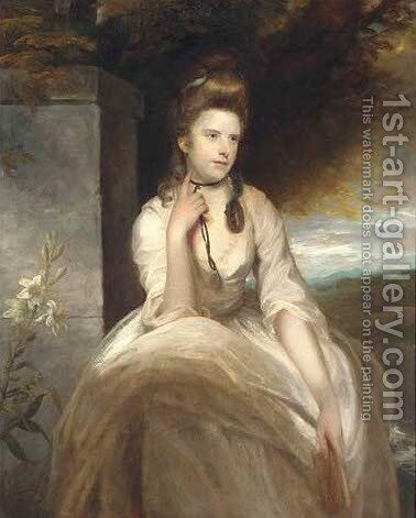 Portrait of Mrs Charles Symmons by Sir Joshua Reynolds - Reproduction Oil Painting