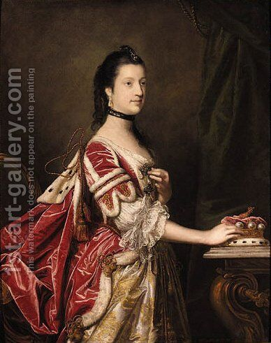 Portrait of Elizabeth, Duchess of Northumberland by Sir Joshua Reynolds - Reproduction Oil Painting