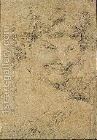 Head of a faun by Annibale Carracci - Reproduction Oil Painting