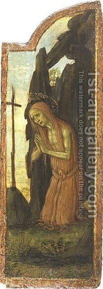 Saint Mary Of Egypt by Arcangelo Di Jacopo Del Sellaio - Reproduction Oil Painting