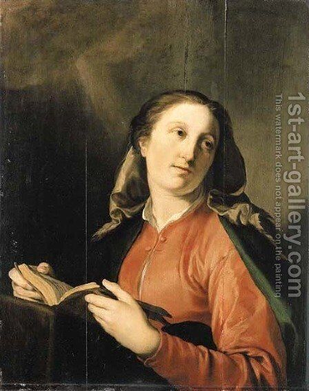 The Virgin Annunciate by Hendrick Bloemaert - Reproduction Oil Painting