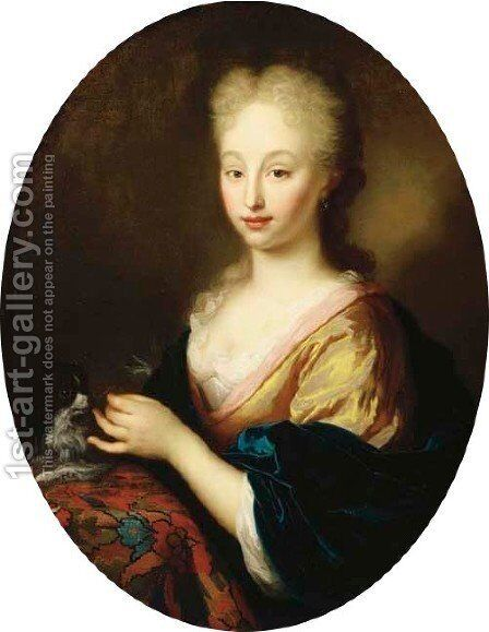 Portrait of a lady by Arnold Boonen - Reproduction Oil Painting