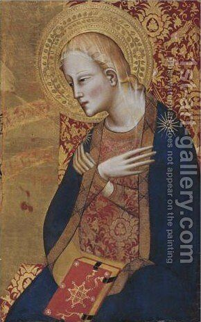 The Archangel Gabriel by Giovanni del Biondo - Reproduction Oil Painting