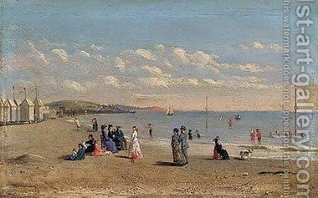 The Beach at Normandy by Conrad Wise Chapman - Reproduction Oil Painting