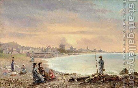 The Beach at Saint Malo Two Works by Conrad Wise Chapman - Reproduction Oil Painting