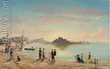 The Beach at Saint Malo2 by Conrad Wise Chapman - Reproduction Oil Painting