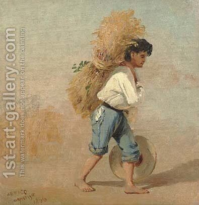 Mexican farm boy by Conrad Wise Chapman - Reproduction Oil Painting