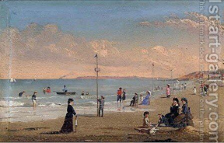The Beach at Trouville by Conrad Wise Chapman - Reproduction Oil Painting