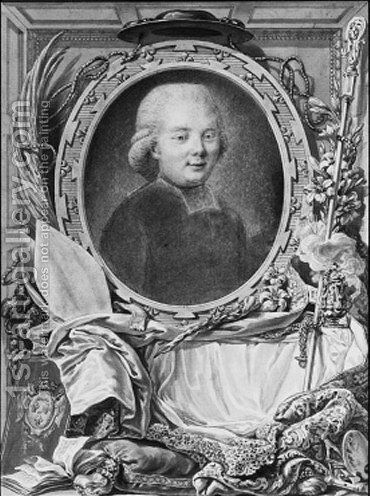 Portrait of the Abbe de Saint-Farre by Charles-Nicolas I Cochin - Reproduction Oil Painting