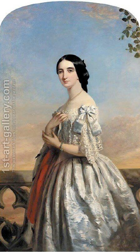 Portrait of Mrs Ford by James Collinson - Reproduction Oil Painting