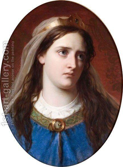 The Grief Of Constance by Sir Thomas Francis Dicksee - Reproduction Oil Painting