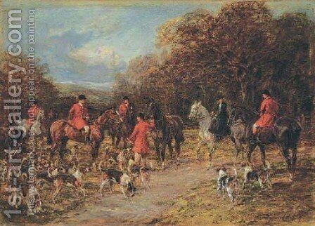 The meetChanging horses by Heywood Hardy - Reproduction Oil Painting
