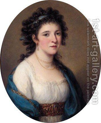 Portrait Of Barbara Dall'armi by Angelica Kauffmann - Reproduction Oil Painting