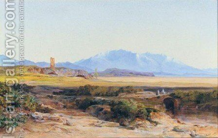 Parnassus And Lake Copais by Edward Lear - Reproduction Oil Painting