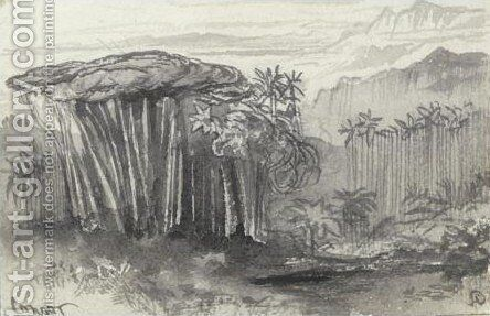 View Of Coonoor, India by Edward Lear - Reproduction Oil Painting