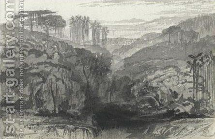 View Of Coonoor, India 2 by Edward Lear - Reproduction Oil Painting