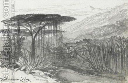 View Of Rulnapoora, Sri Lanka 2 by Edward Lear - Reproduction Oil Painting