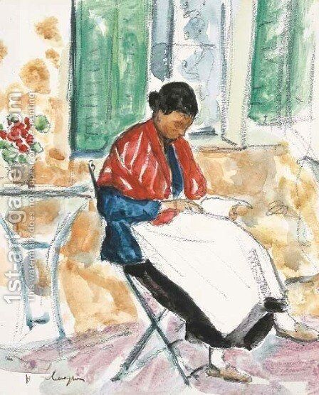 Femme by Henri Lebasque - Reproduction Oil Painting