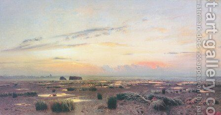 Marsh at evening by Isaak Ilyich Levitan - Reproduction Oil Painting
