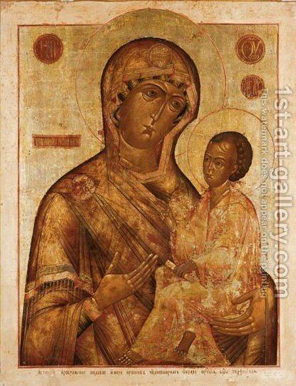 Mother of God by - Unknown Painter - Reproduction Oil Painting