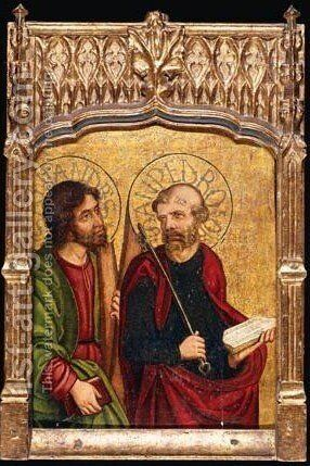 Saints James And Andrew by - Unknown Painter - Reproduction Oil Painting
