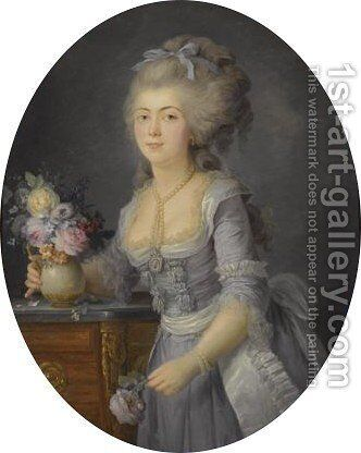 Portrait Of Madame Adelaide Auguie by Anne Vallayer-Coster - Reproduction Oil Painting