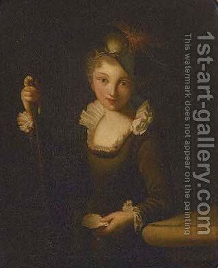 Portrait of a girl by Elisabeth Vigee-Lebrun - Reproduction Oil Painting