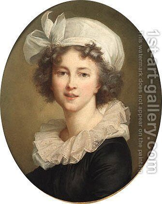 Portrait of a young girl by Elisabeth Vigee-Lebrun - Reproduction Oil Painting