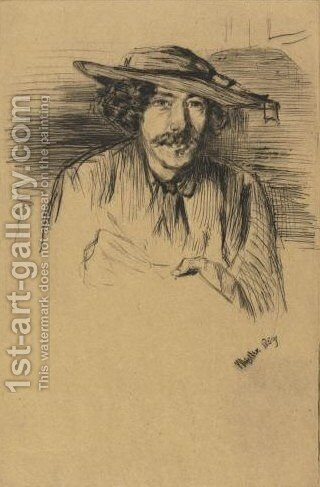 Portrait Of Whistler by James Abbott McNeill Whistler - Reproduction Oil Painting