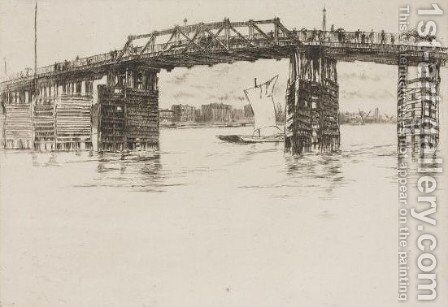 Old Battersea Bridge 2 by James Abbott McNeill Whistler - Reproduction Oil Painting