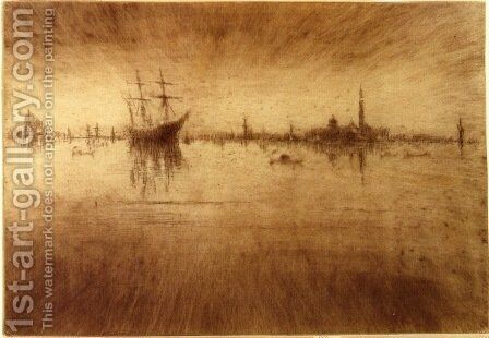 Nocturne 3 by James Abbott McNeill Whistler - Reproduction Oil Painting