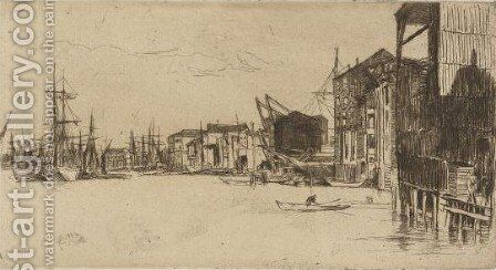 Free Trade Wharf by James Abbott McNeill Whistler - Reproduction Oil Painting
