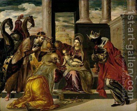 The Adoration Of The Magi by El Greco - Reproduction Oil Painting