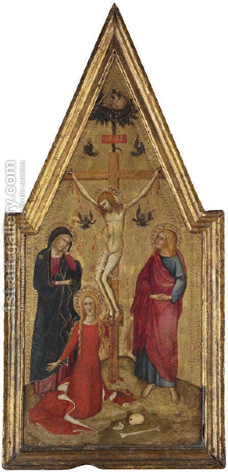 The Crucifixion by Niccolo Di Buonaccorso - Reproduction Oil Painting