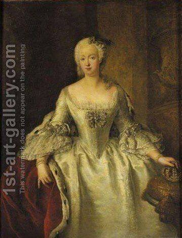 Portrait Of Queen Elisabeth Christine Of Russia by Antoine Pesne - Reproduction Oil Painting