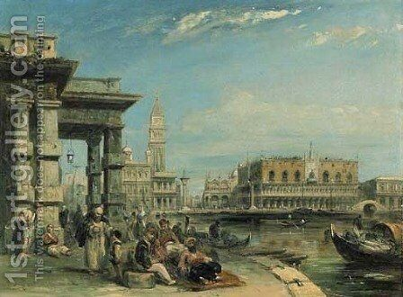 San Marco and the Palazzo Doges from the Dogana by Edward Pritchett - Reproduction Oil Painting