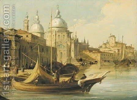 The Church of Santa Maria della Salute from beside the Dogana by Edward Pritchett - Reproduction Oil Painting