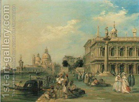 Santa Maria della Salute and the Dogana from the Piazza di San Marco by Edward Pritchett - Reproduction Oil Painting
