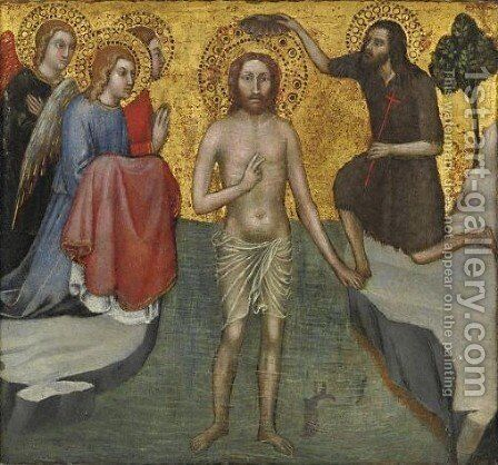 Battesimo Di Cristo by Taddeo Di Bartolo - Reproduction Oil Painting