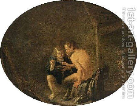 The Satyr And The Peasant by Dutch Unknown Masters - Reproduction Oil Painting